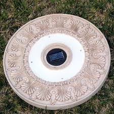 Round Solar Lights by Homebrite Solar Power Round White Wash Stepping Stones Set Of 3