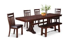 rio grande trestle table and 4 side chairs hom furniture