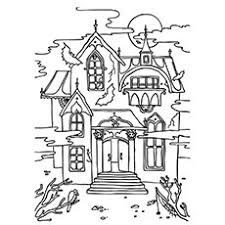 printable spooky house 25 free printable haunted house coloring pages online