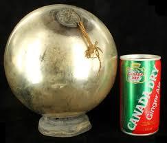 antique blown kugel ornament silver glass