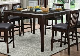 homelegance pasco counter height dining table espresso 5401 36
