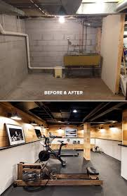 Home Basement Ideas Michelle Adams Basement Gym Before And After Interior Design
