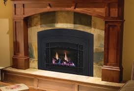 living room interesting fireplace inserts with tile surround for