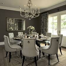 tufted dining room chairs dark gray design ideas with nailheads