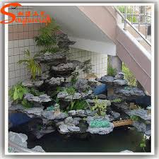 Fake Rocks For Landscaping by Artificial Fiberglass Rock Waterfall Home Decoration Fake Rocks