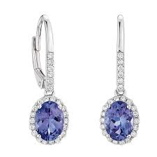 tanzanite earrings tanzanite diamond earrings 14k ben bridge jeweler