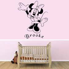 minnie mouse wall stickers home design free shipping popular personalized minnie mouse wall decal sticker for kids room children wall paper home