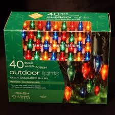 premier 40 bulbs multi outdoor lights multi coloured bulbs