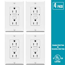 gfci receptacle with indicator light topele 15a gfci outlet 125 volt ter resistant receptacle