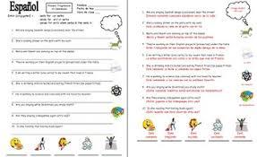 spanish present progressive 10 sentences worksheet by sue summers
