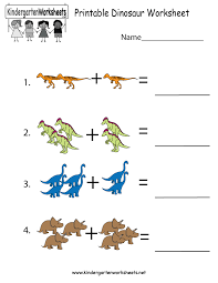 Free Printable Worksheets For Preschool Teachers Printable Dinosaur Worksheet Free Kindergarten Learning