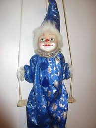string puppet marionette clown string puppet doll clown on swing hanging