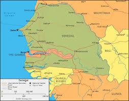 africa map senegal senegal map and satellite image
