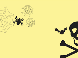 halloween powerpoint templates arts black yellow free ppt