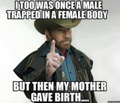 Witty Memes - i too was once a male trapped in a female body but then my mother