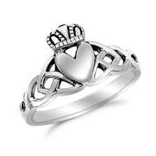 clatter ring sterling silver celtic claddagh ring kriskate co
