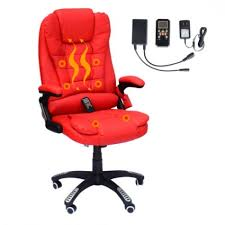 homcom executive ergonomic pu leather heated vibrating massage for