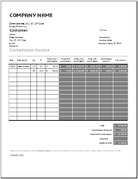 Sales Commission Excel Template Commission Invoice Template For Excel Word Excel Templates