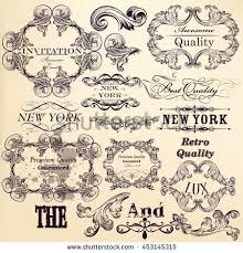 vector collection detailed vintage borders ornaments stock vector