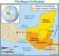 mayan empire map geography in the demise of the national geographic
