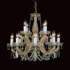 Marie Chandelier Impex Marie Therese 12 Light Gold Crystal Chandelier