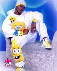 Spongebob Pajamas Meme - gangster spongebob ghetto red hot