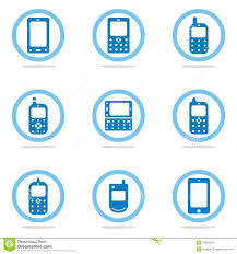 mobile phone icon set stock images image 18359394