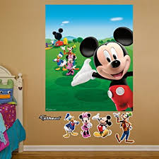 Mickey Mouse Clubhouse Bedroom Decor Amazon Com Fathead Mickey Mouse Clubhouse Mural Graphic Wall