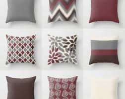 Outdoor Pillow Slipcovers Grey Brown Pillow Etsy