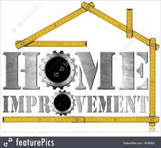 illustration of home improvement symbol with gears