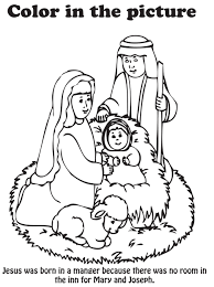 Nativity Coloring Page Free Printable Nativity Coloring Pages