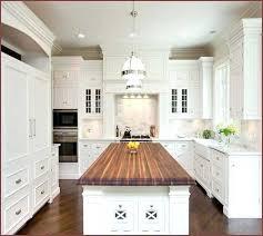 white kitchen island with butcher block top best wood for butcher block island rosekeymedia com