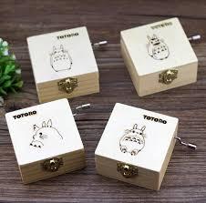 wooden party favors 10pcs hayao miyazaki totoro wooden box craft decoration