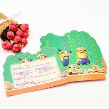 Minions Invitation Card Online Buy Wholesale Minion Invitation From China Minion