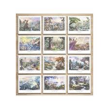 kinkade disney folio set of 12 wall 8209755 hsn