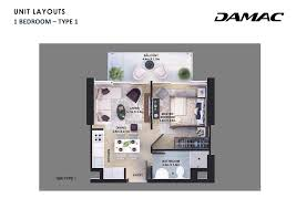 1 Bedroom Apartment Floor Plans by Golf Vita 1 Bedroom Apartment Type 3 Floor Plan