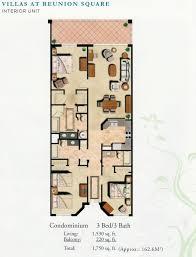 Interior Floor Plans Villas Interior Floor Plan Buy Reunion Resort