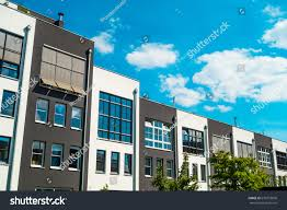row houses luxury real estate row houses berlin stock photo 670733836