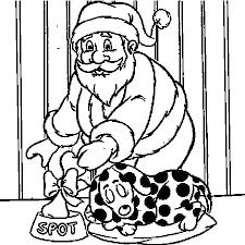 dessin chien père noël a colorier dessin colorier et dessin non