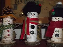 little snowmen made from birch tree limbs christmas primitives
