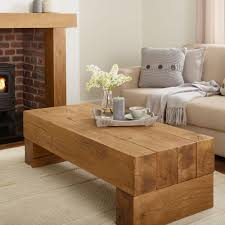 oak coffee table banbury solid french rustic beam