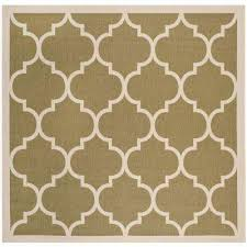 Square Indoor Outdoor Rugs Green Square 1 6 Outdoor Rugs Rugs The Home Depot