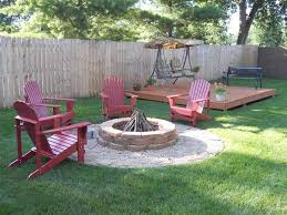 Patio Firepits Patio Small Backyard Pits With Wooden Benches On