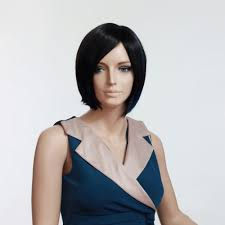 woman u0027s wig black short straight bob haircut streaked hairstyle
