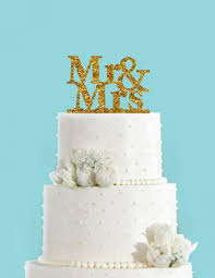 mr u0026 mrs block acrylic wedding cake topper gold glitter silver