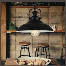 Mini Outdoor Lights Loft Bar Black Iron American Vintage Retro Pendant Light Dining