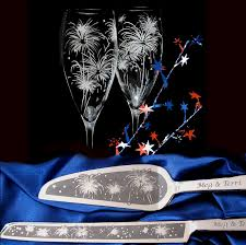 new years chagne flutes new year s wedding personalized cake server and chagne