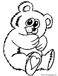 cute teddy bear cartoon coloring pages printable