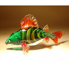 glass fish carp figurine glasslilies