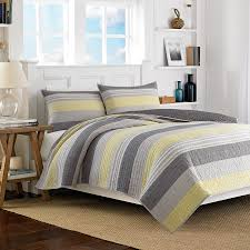 Nautica Down Alternative Comforter Nautica Mondrian Gray Quilt Stripes Bedding Beddingstyle